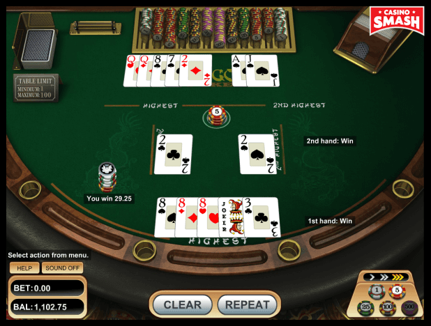optimal pai-gow poker strategy with full house