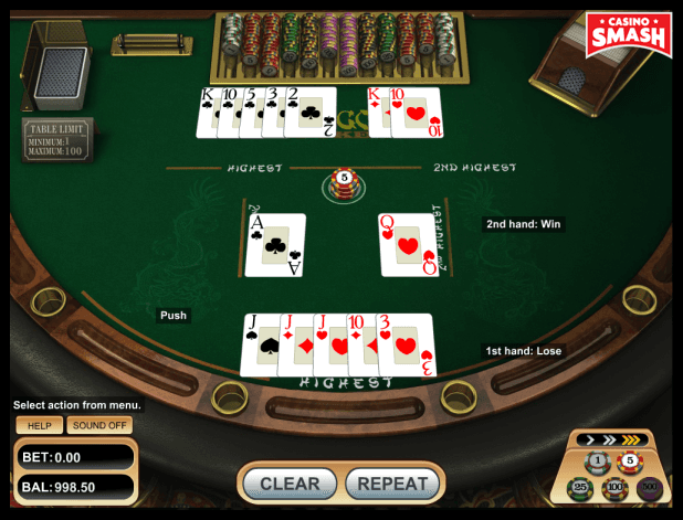 pai-gow poker strategy: three of a kind