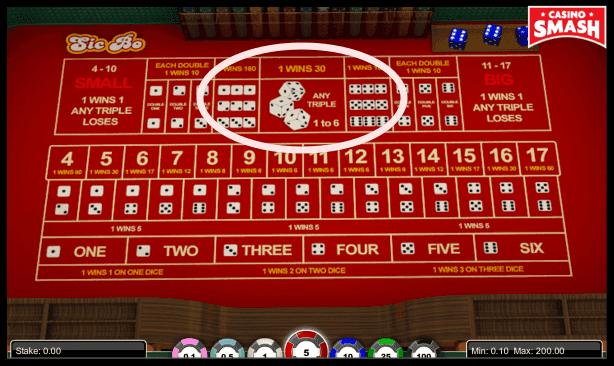 sic bo strategy: triple bets