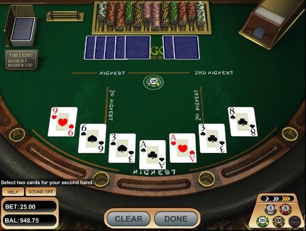pai gow poker: dealt cards