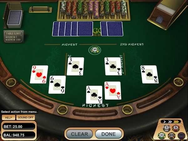 pai gow poker: setting up hands