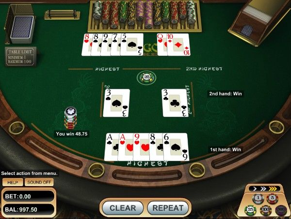 pai gow poker: banker's hand revealed