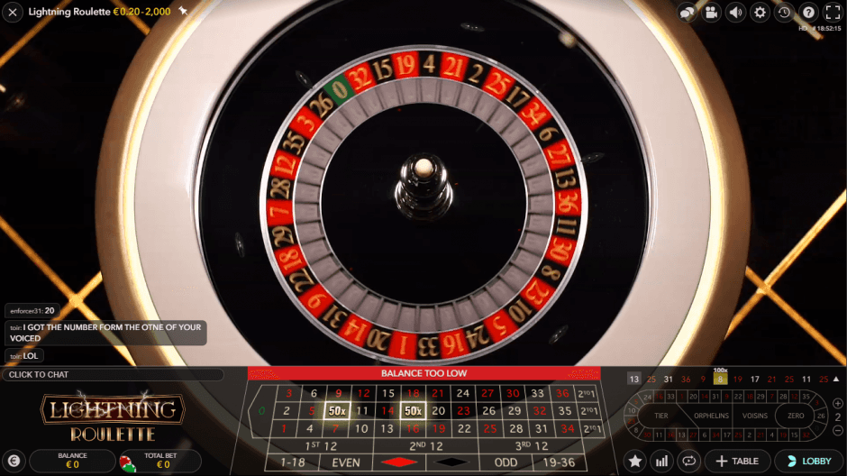 lightning roulette pays 500x