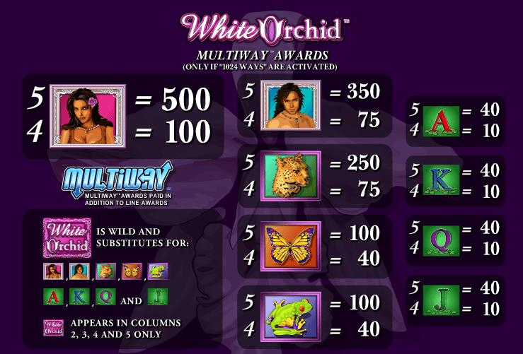 white orchid slot machine online free play