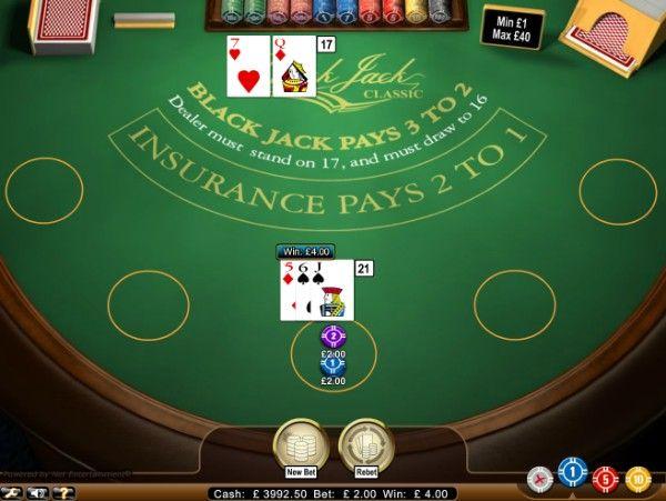 double down win in blackjack