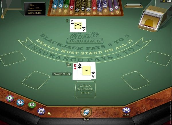 Classic Blackjack Gold by Microgaming