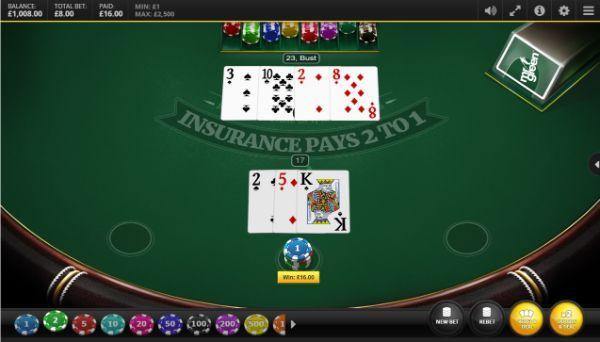 blackjack odds: dealer busts