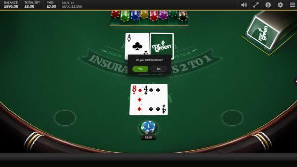 blackjack odds: insurance