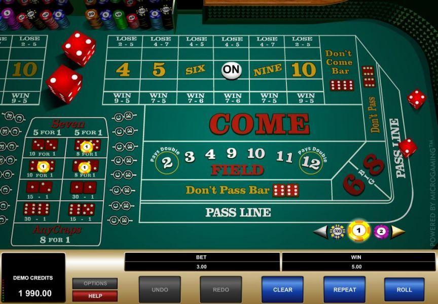 Crap Table Odds