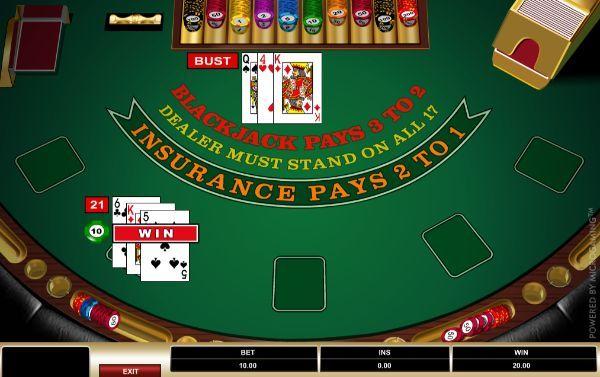 bust games 3 card gambling