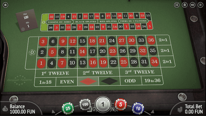 A Five Minute Guide To European Roulette Online
