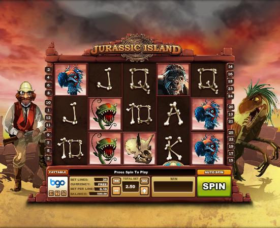 Jurassic Island video slot