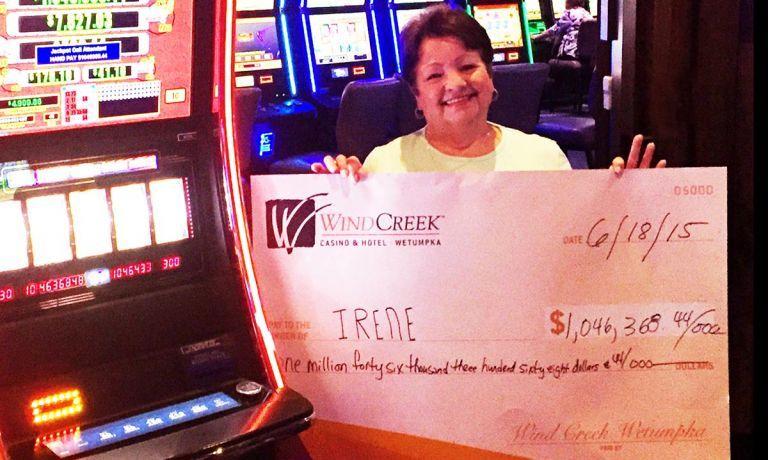 Woman wins slots