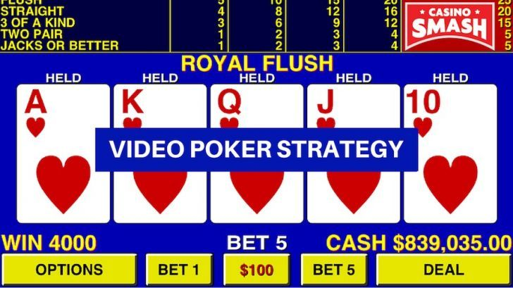 casino video poker strategy