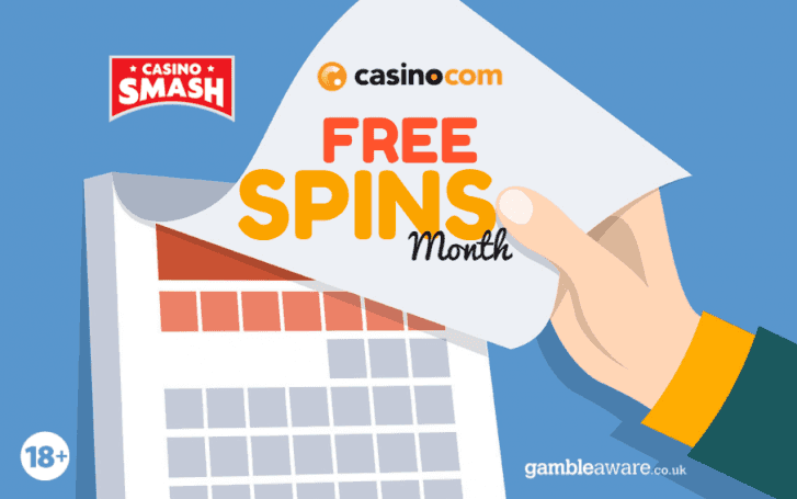 free spins at Casino.com