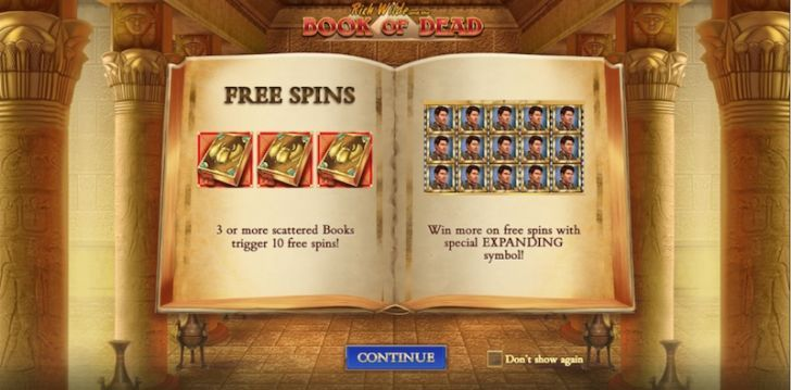 book of dead slot rules