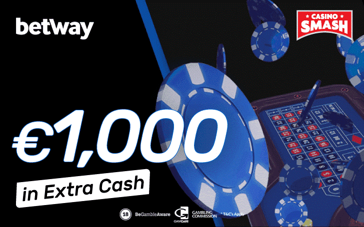 €1000 in extra cash at Betway Casino
