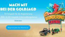 Freispiele ohne Einzahlung für deutschsprachige Spieler bei Wunderino