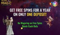Slots Magic is Offering Free Spins for an Entire Year!