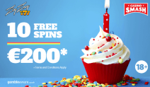 Celebrate a Birthday with 10 Free Spins and up to €200!