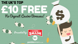Top £10 FREE No Deposit Casino Bonus Deals for UK Players