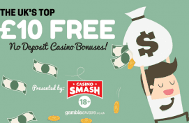 Top £10 FREE No Deposit Casino Bonus Deals for UK Players