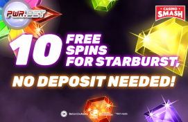 Play Starburst with a no deposit bonus