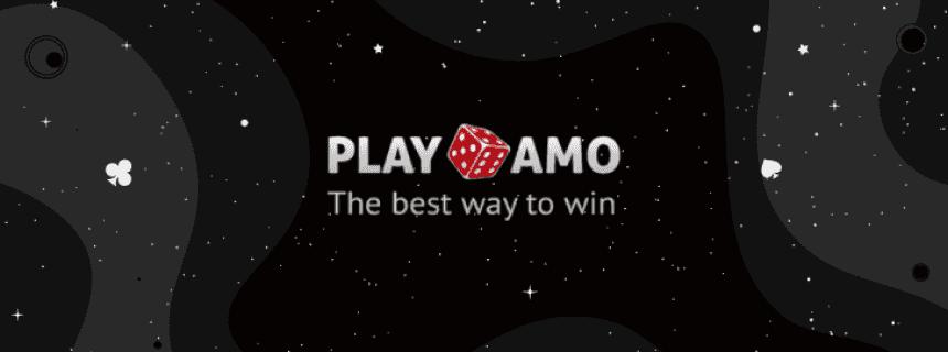 PlayAmo Casino logo black background
