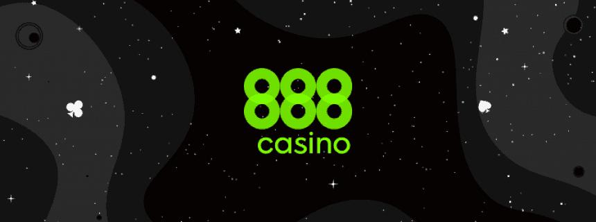 888 casino green logo in black background