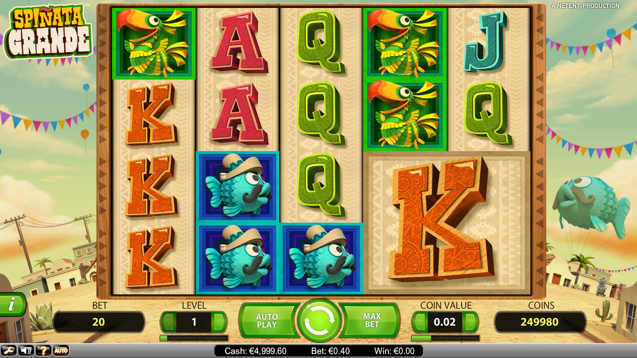 Spinata Grande Online-Slot von NetEnt - Jetzt Gratis Online Spielen