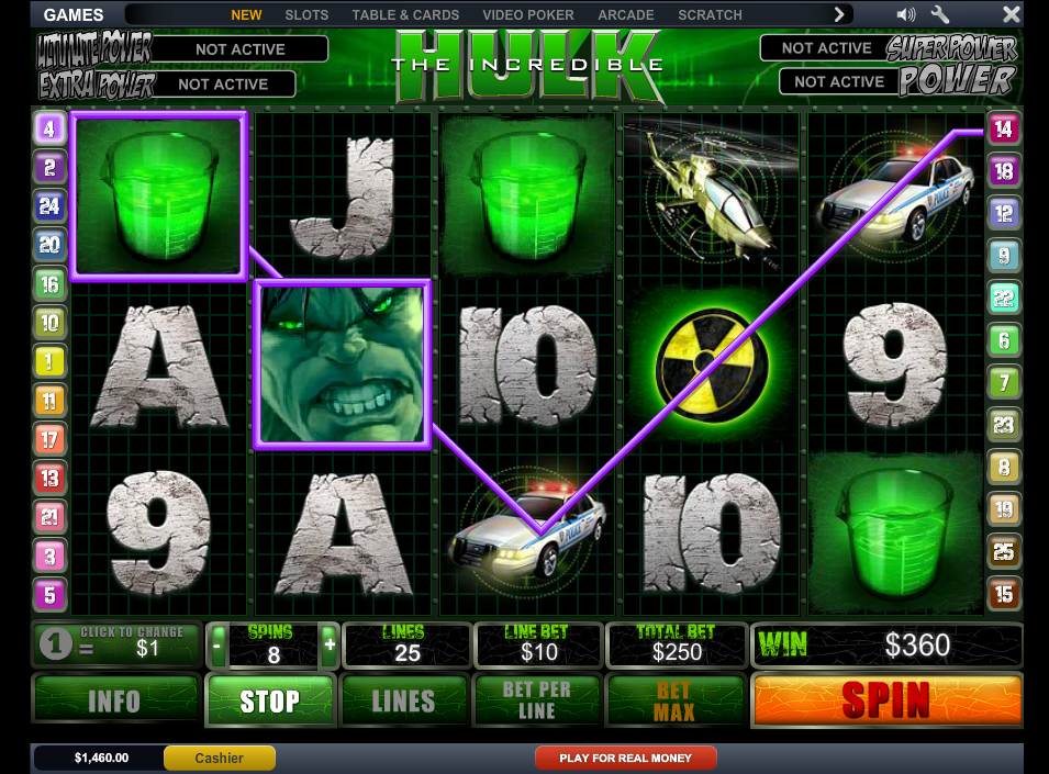 online casino games the incredible hulk
