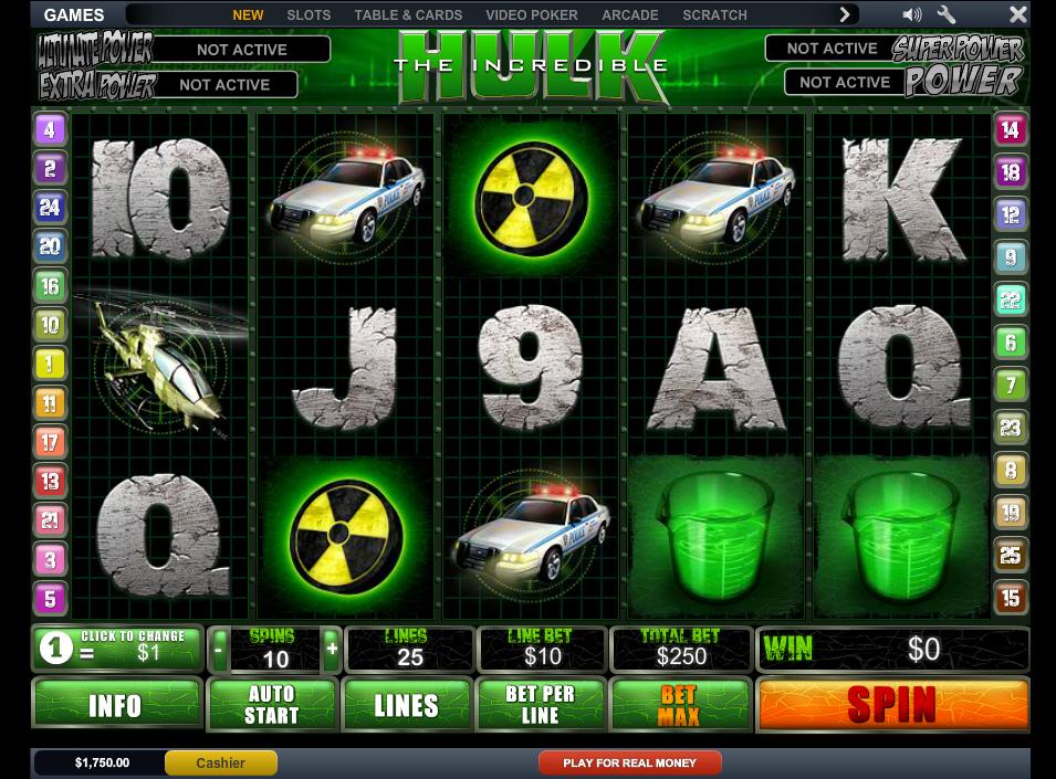 Play The Incredible Hulk Slot
