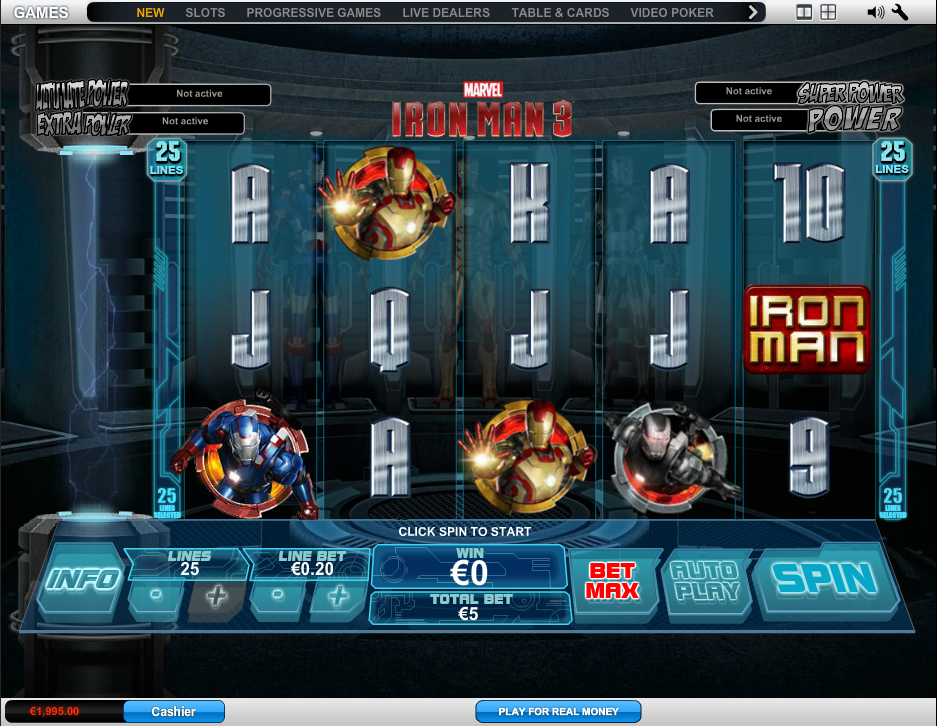 Play Free Iron Man 3 Slot Online - no download