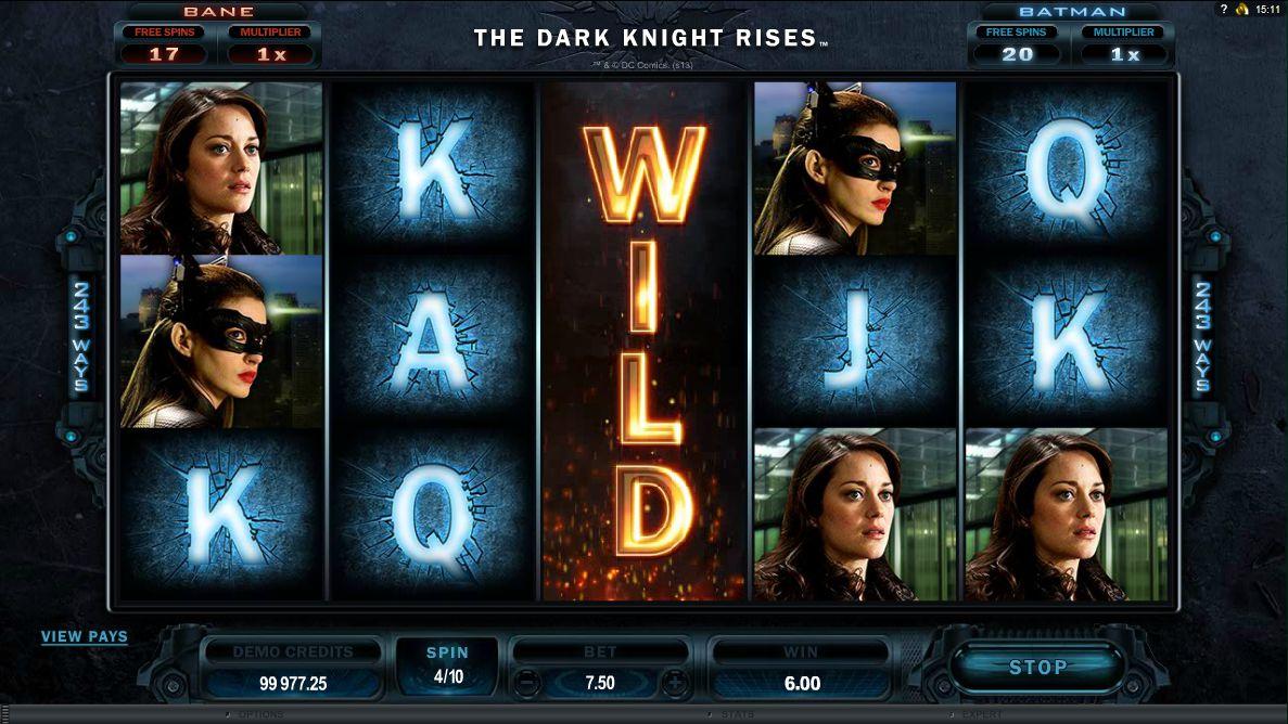 The Dark Knight Rises Spielautomat – gratis online spielen