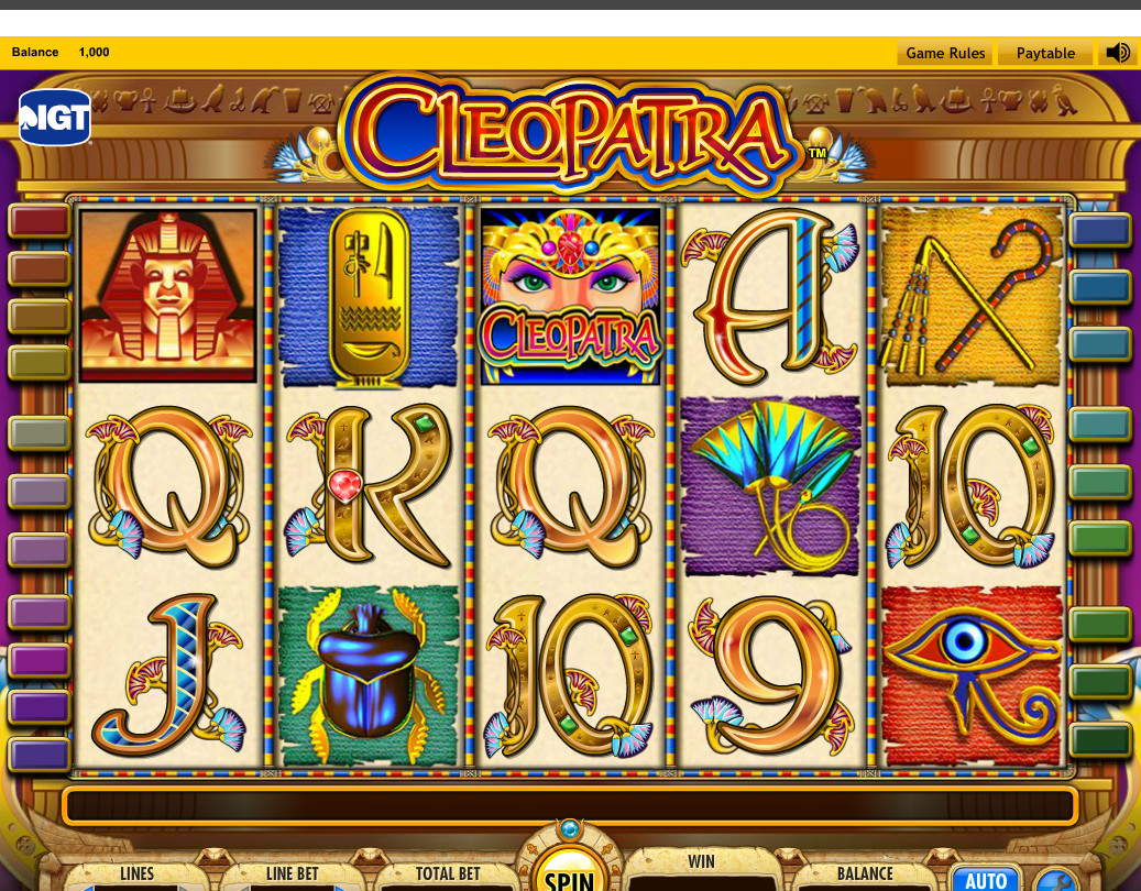 cleopatra online casino game