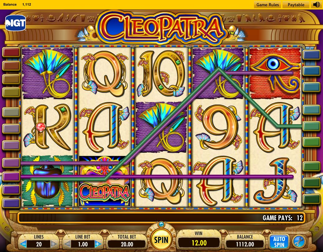 free casino video slots cleopatra powerdaddy