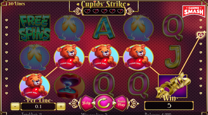 Spiele CupidS Strike - Video Slots Online