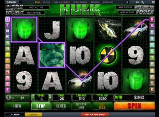 incredible hulk slot machine