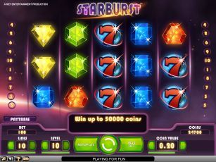 Starburst: free spins to play online