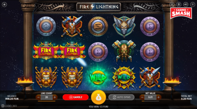 Video Slot Machine Fire Lightning