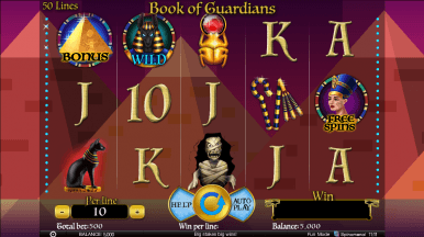 Video Slot Machine Book of Guardians