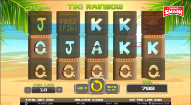 Video Slot Machine Tiki Rainbow