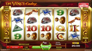 Online Slots Game Da Vinci Codex