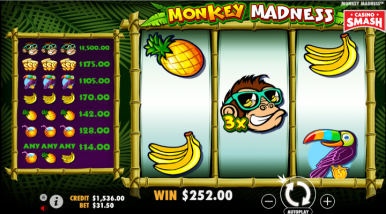 Online Slots Game Monkey Madness
