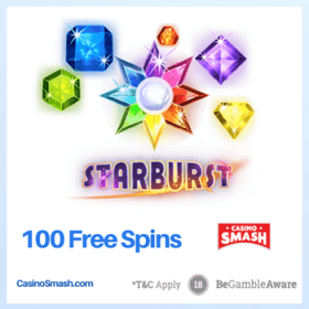 100 Free Spins to Play Starburst
