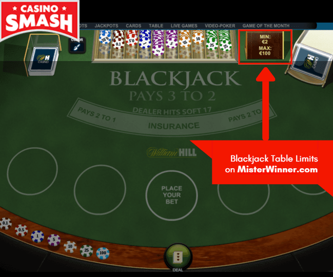 Blackjack Table Limits