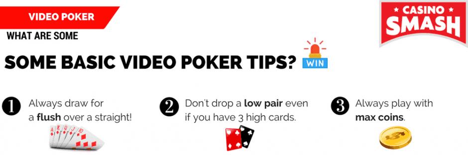 Basic Video Poker Tips