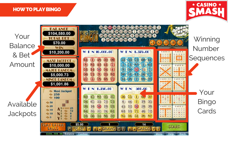 how to play casino bingo