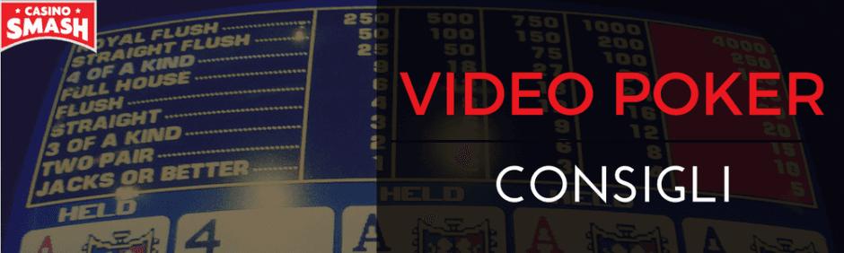 consigli per imparare a giocare a video poker