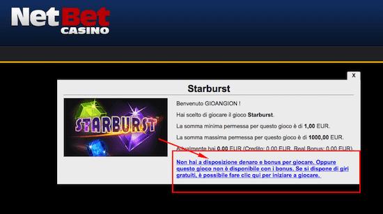 giri gratis per giocare su NetBet Casino
